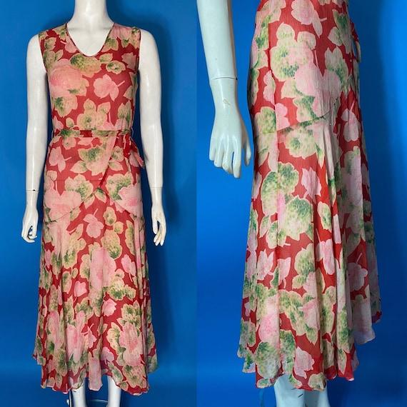 1930s chiffon tea dress
