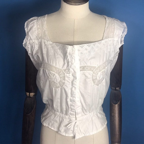 Edwardian corset cover or cami blouse