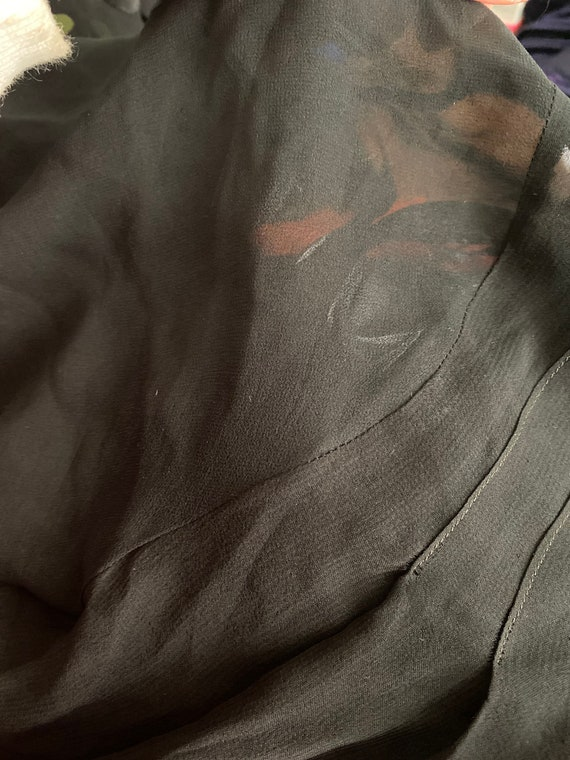 1920s devoré dress with orange underdress - image 9