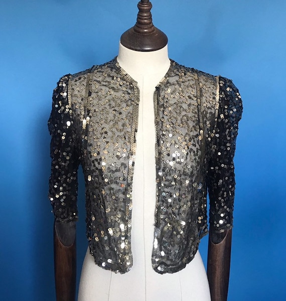 1930s sequinned evening jacket