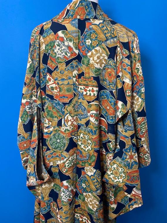 Vintage kimono with novelty print - image 4
