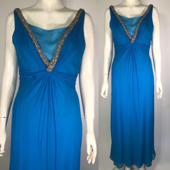 Emma Domb 1960s evening dress, Grecian dress