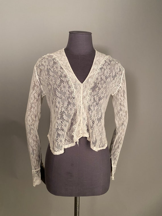 1910s lace blouse with sailor collar - image 2