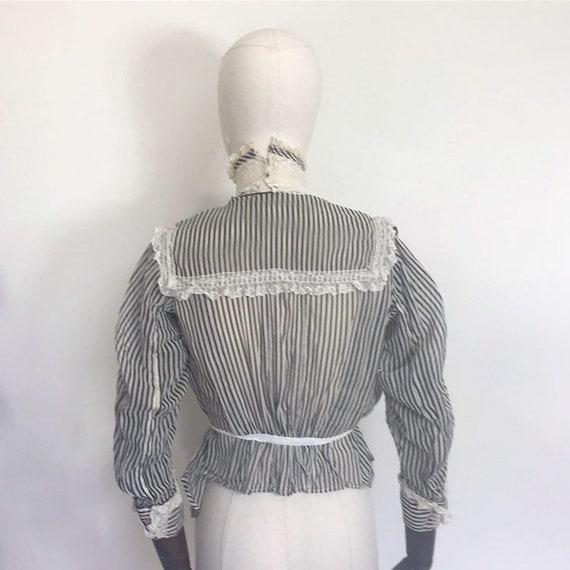 Edwardian blouse with stripes - image 3