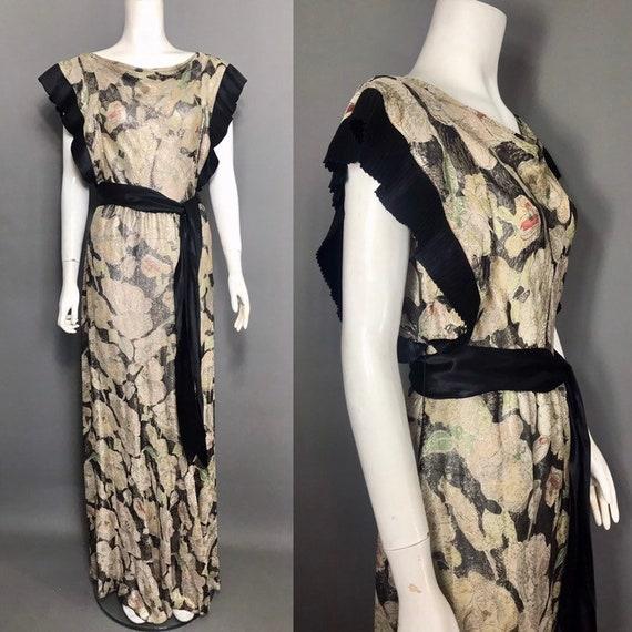1930s lamé evening dress