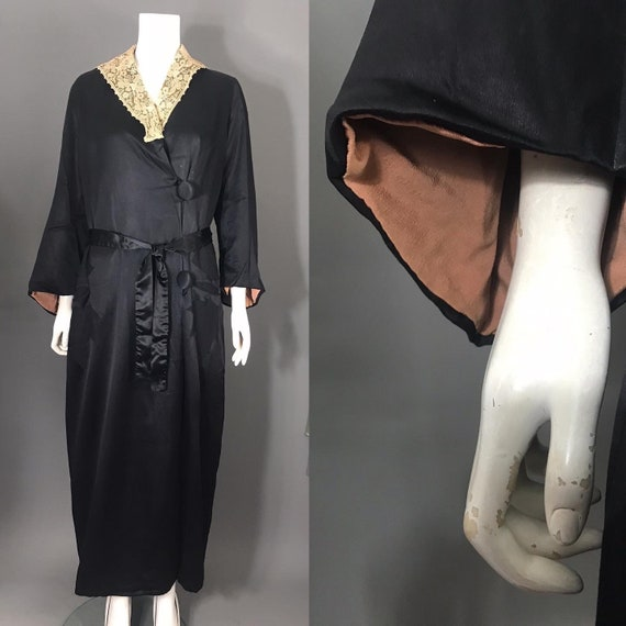 1910s 1920s robe, dressing gown