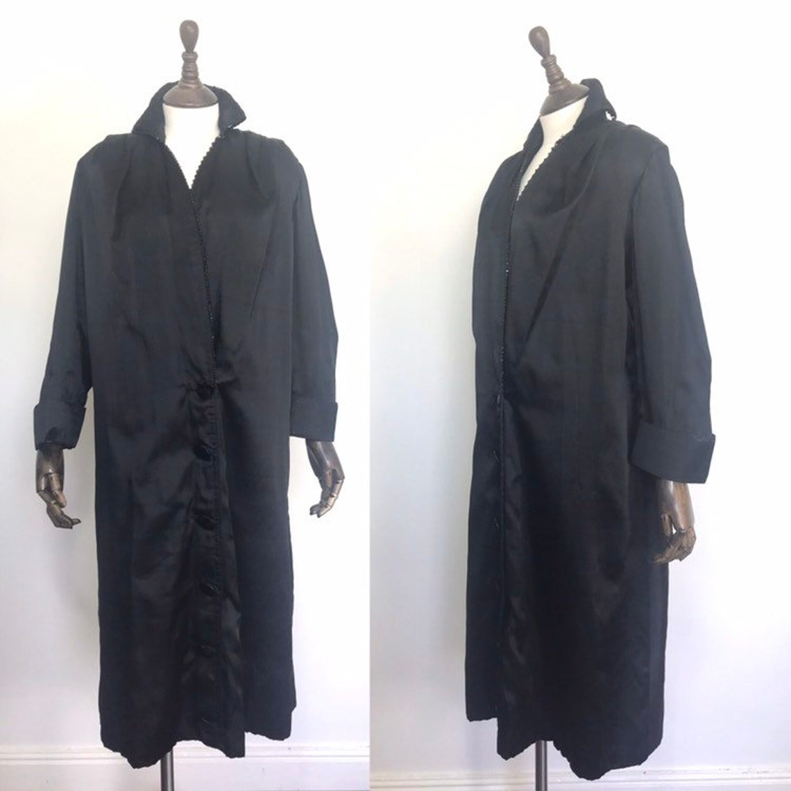 1910s Coat, Silk And French Jet