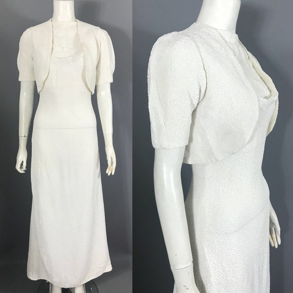 1930s backless gown with bolero - image 1