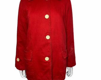 1950s red jacket with quilted lining , sportswear