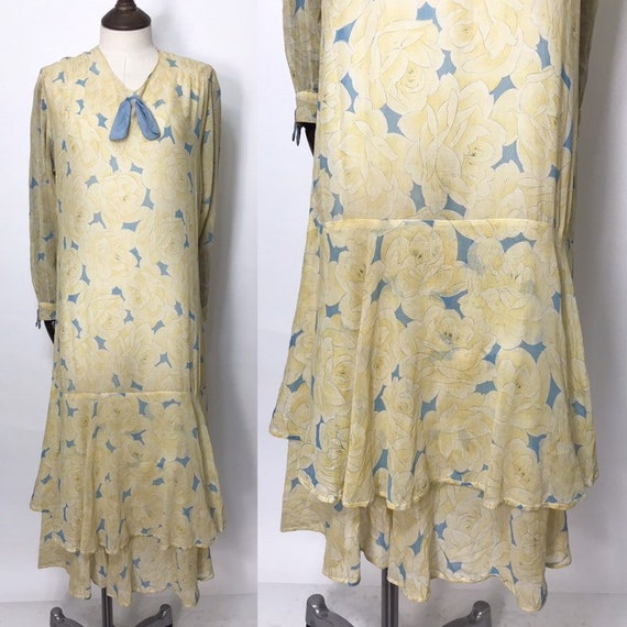 1920s day dress with or tea dress