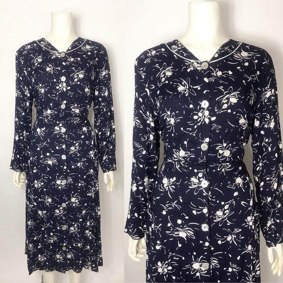1950s shirtwaist dress with pockets