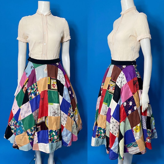 1950s patchwork skirt