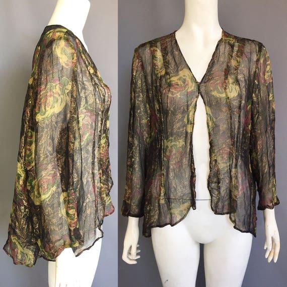 1920s lamé jacket / blouse