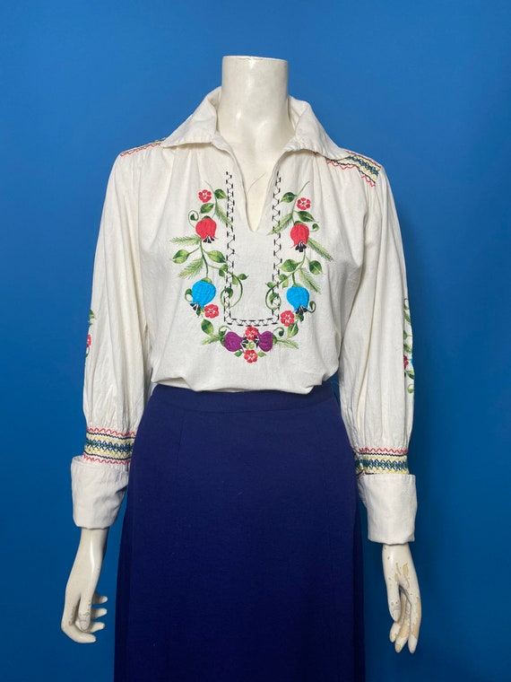 1960s Mexican blouse, peasant blouse