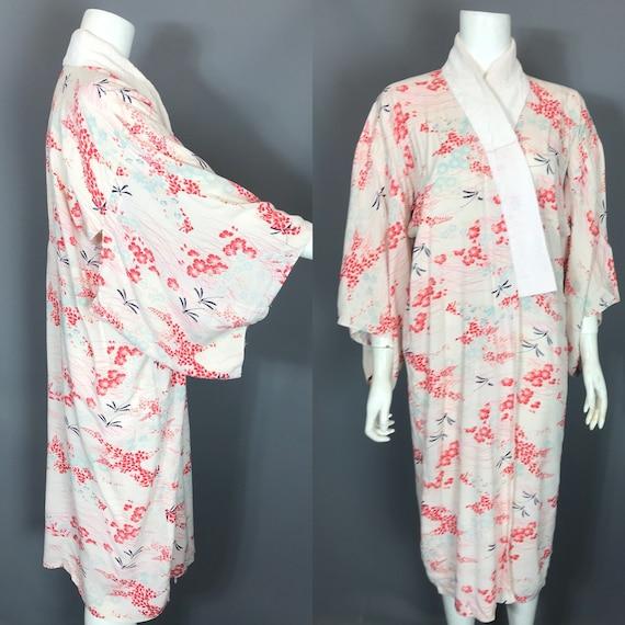 1930s kimono or yukata in floral rayon - image 1