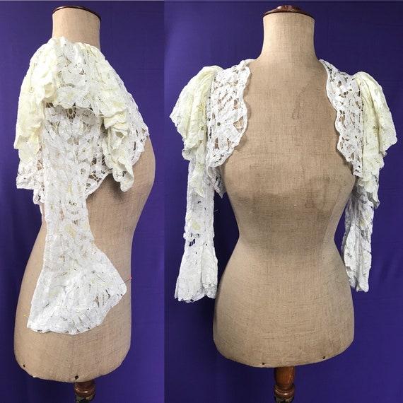 1930s bolero in delicate tape lace