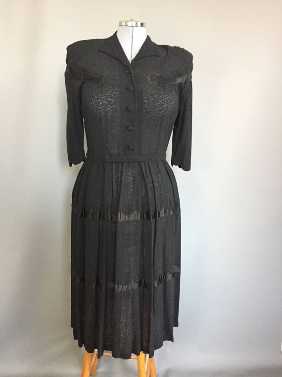 genuine 1940s dress with western influence - image 1