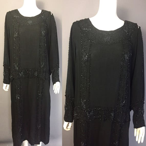 1920s beaded dress - 1920s evening dress - image 2