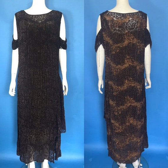 1920s evening dress with beading