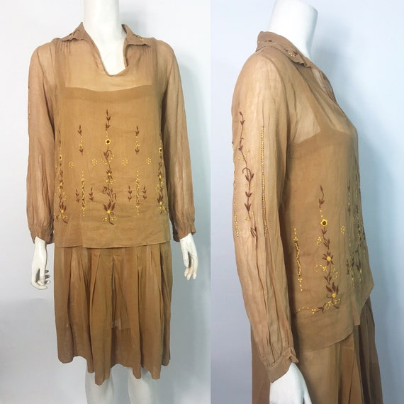 1920s peasant dress with blouse