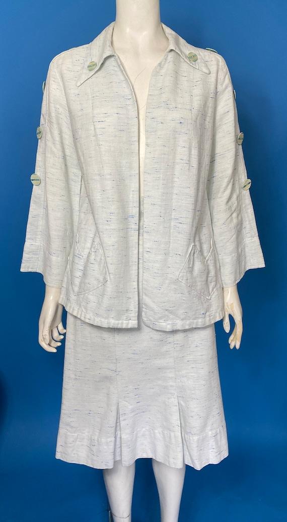 1930s linen suit