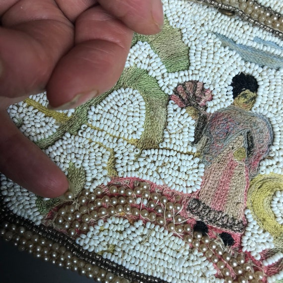 1930s beaded purse with japonism influence - image 10