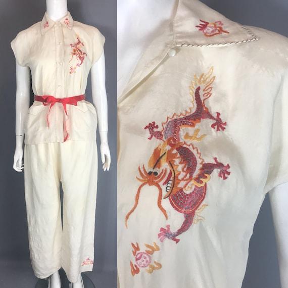 1930s silk pyjamas