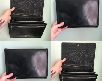 1930s leather handbag / 1930s clutch bag