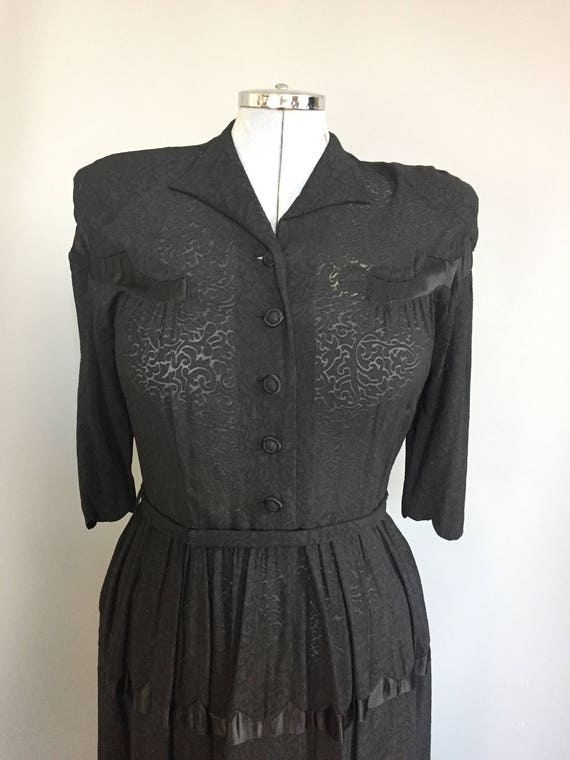genuine 1940s dress with western influence - image 7