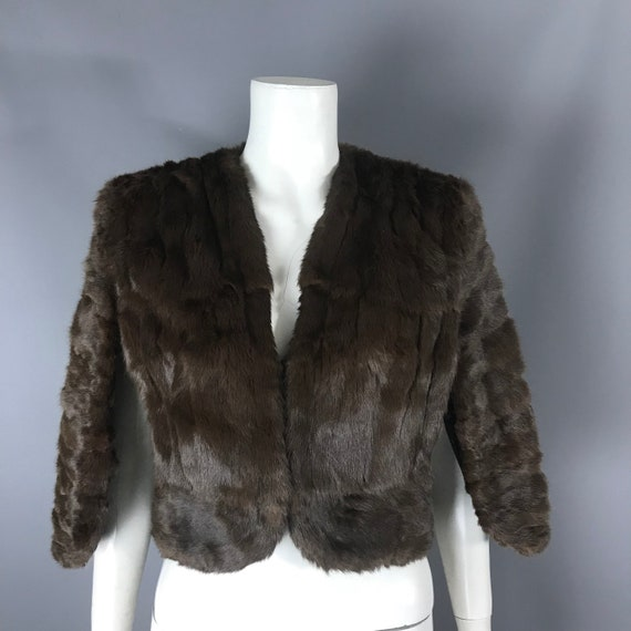 1940s fur cape - image 1