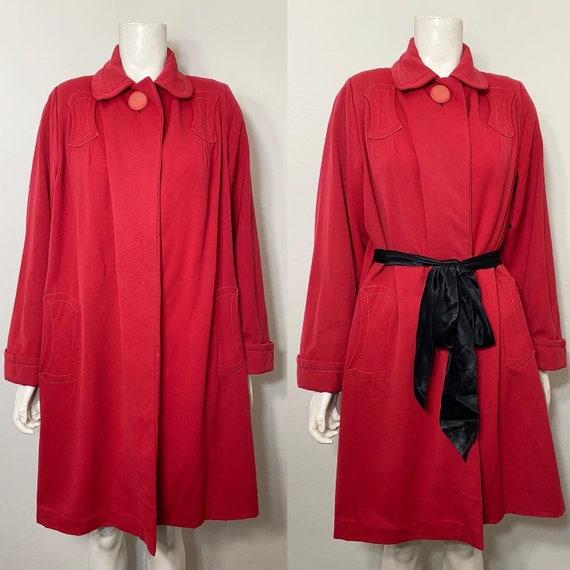 Red 1950s swing coat