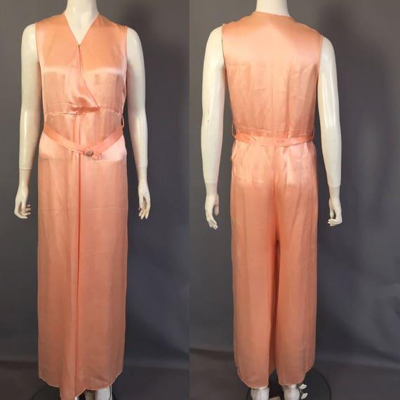 1930s lounge pyjamas / beach pyjmas / jumpsuit - image 3