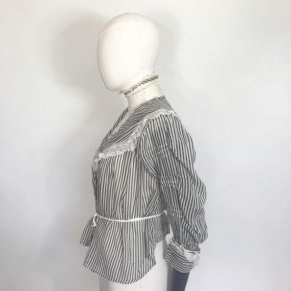 Edwardian blouse with stripes - image 2