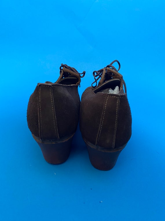 1940s shoes with wooden soles, deadstock French - image 8