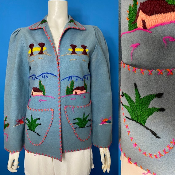 1940s Mexican tourist jacket - image 1