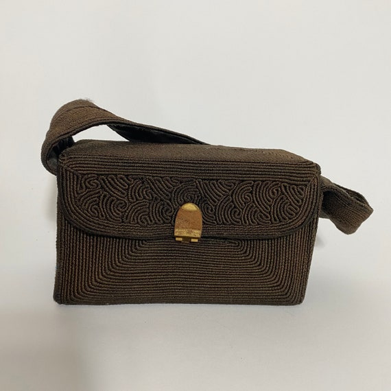 1940s corde box bag