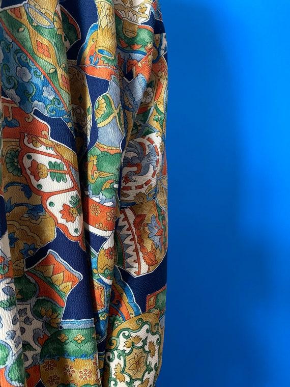 Vintage kimono with novelty print - image 7