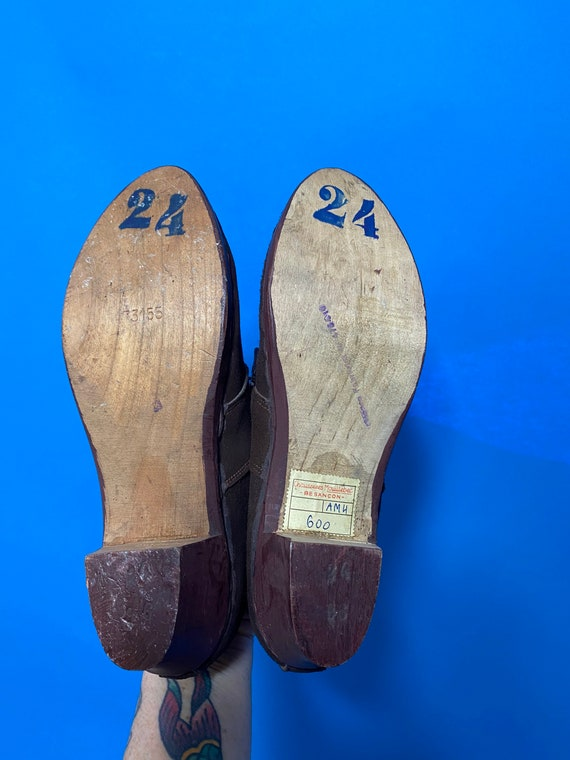1940s shoes with wooden soles, deadstock French - image 5