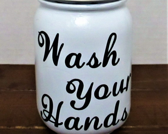 Mason Jar Soap Dispenser, Mason Jar Lotion Dispenser, Bathroom Decor, Kitchen Decor, Rustic Decor, Farmhouse Decor, Wash Your Hands