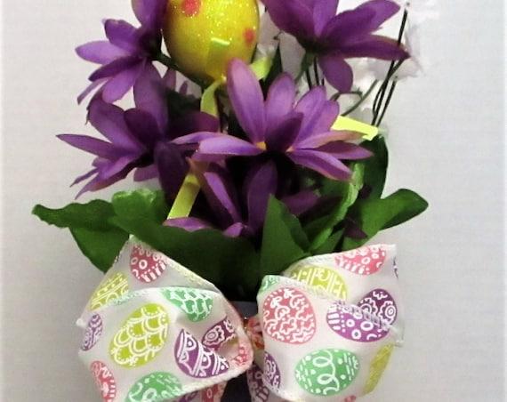 Easter Floral Arrangement, Easter Decor, Spring Decor, Easter Egg Decor, Home Decor, Spring Flower Arrangement, Gift