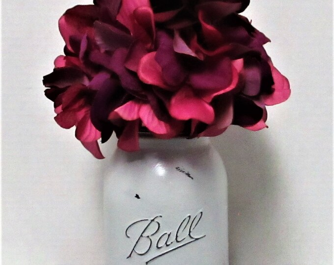 Mason Jar Flower Centerpiece, Country Chic,  Farmhouse Centerpiece, Wedding Decor, Farmhouse Decor, Flower Arrangement, Get Well Gift