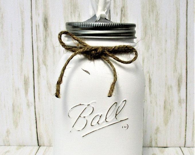 Mason Jar Tissue Holder, Country Chic Decor, Tissue Holder, Farmhouse Decor, Kleenex Holder, Tissue Jar, Bathroom Decor, Home Decor