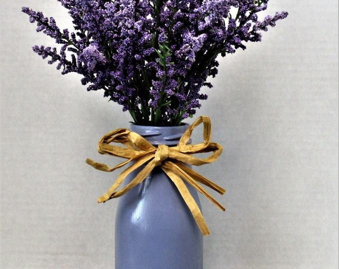 Lavender Centerpiece, Dairy Bottle Decor, Country Chic Decor, Farmhouse Decor, Spring Decor, Accent Flowers, Mothers Day Gift