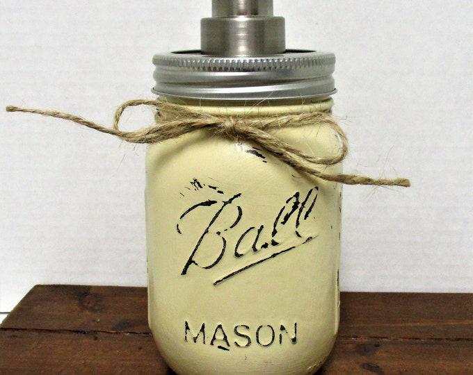Mason Jar Soap Dispenser, Bathroom Decor, Kitchen Decor, Rustic Decor, Farmhouse Decor