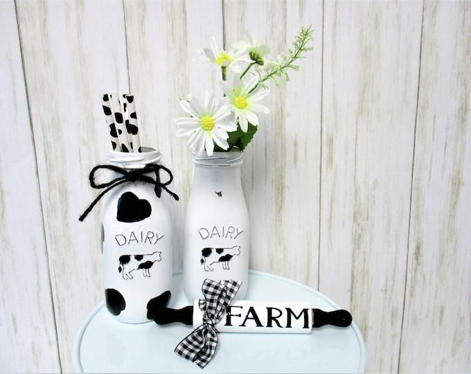 Farm Mini Rolling Pin Tiered Tray Decor, Farmhouse Kitchen Decor, Country Kitchen, Home Decor, Housewarming Gift