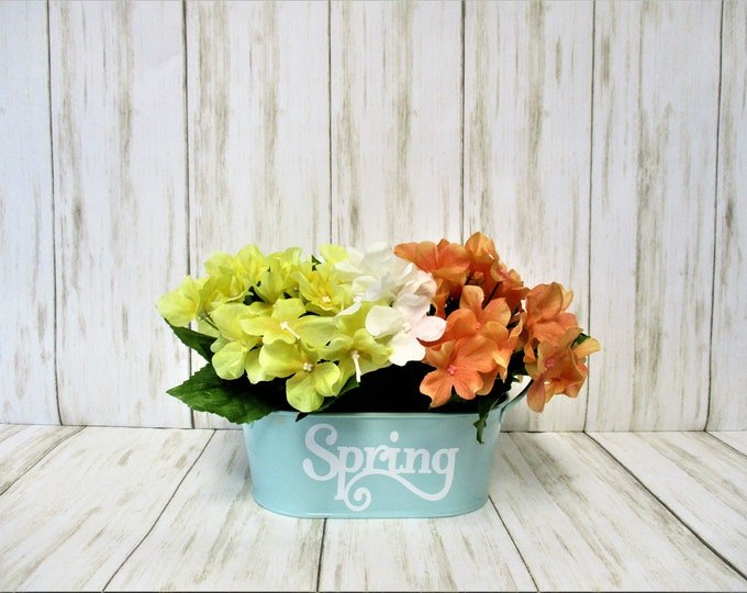 Spring Centerpiece Flower Arrangement Decor, Spring Home Decor, Gift