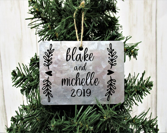 Personalized Christmas Ornament, Christmas Tag Ornament, Farmhouse Christmas Ornament