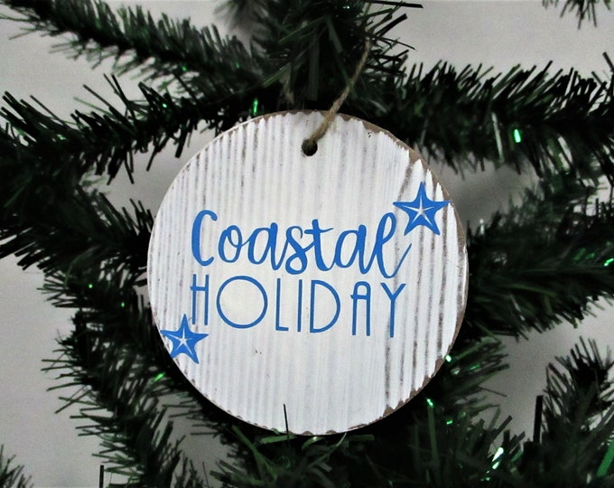 Coastal Christmas Ornament, Beach Christmas Ornament, Christmas Decor, Beach Decor