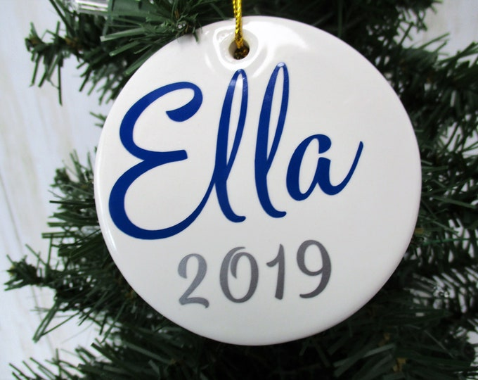 Personalized Christmas Ornament, Ceramic Christmas Ornament, Christmas 2019, Christmas Decor, Christmas Tree Decor, Gift