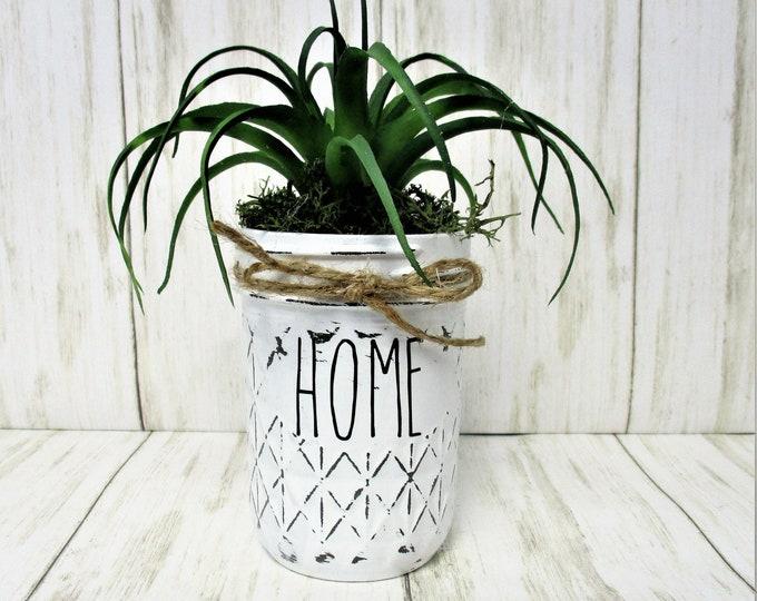 Mason Jar Succulent Home Centerpiece, Farmhouse Decor, Succulent Arrangement, Country Decor, Mothers Day Gift
